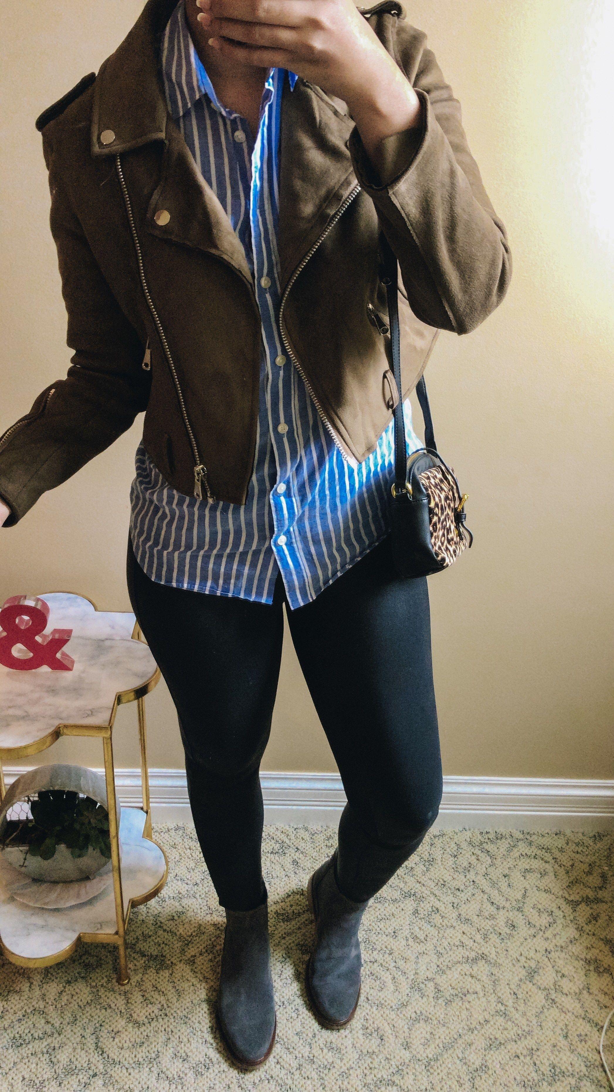 4526e70ea62 How to Wear Faux Leather Leggings