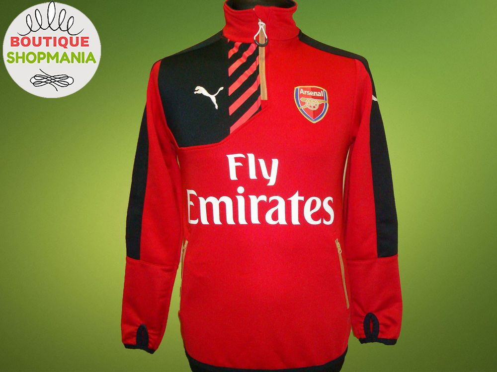 bc48bd52fef ARSENAL GUNNERS Training (S) PUMA 1 4 Zip Sweatshirt TOP FOOTBALL TRACK  JACKET