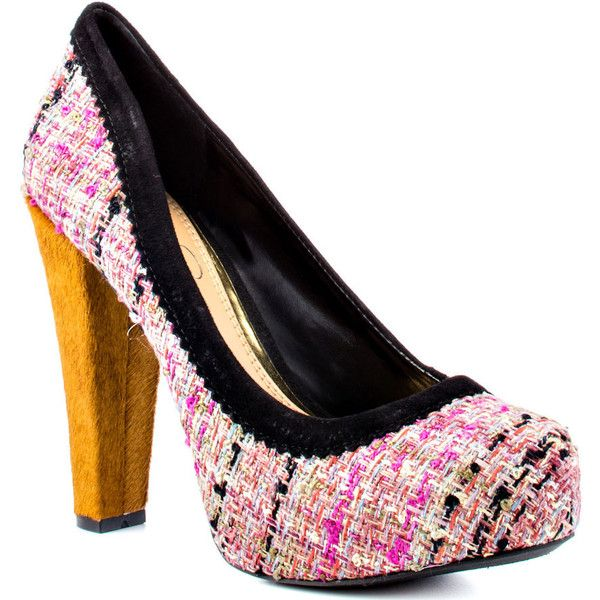 Jessica Simpson Topazio - Rosa Tweed Fab ($90) ❤ liked on Polyvore  featuring shoes