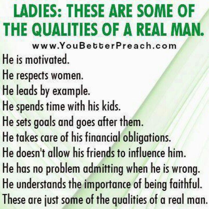 Qualities of a good man to marry