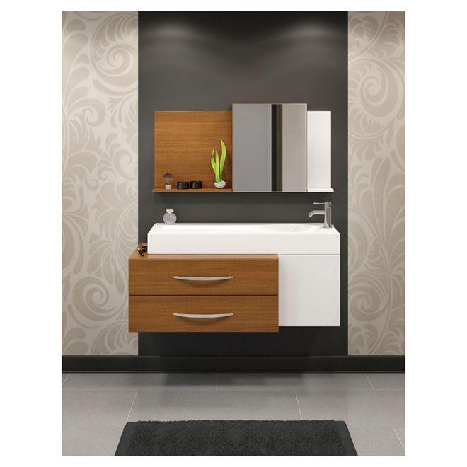Meuble lavabo «Susdpendu» Bathroom Pinterest
