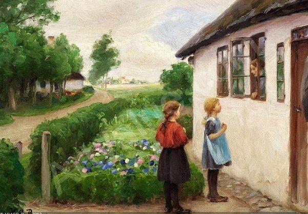 Hans Andersen Brendekilde 1857 1942 Danish I Am A Child In 2020 Beautiful Paintings Andersen Painting