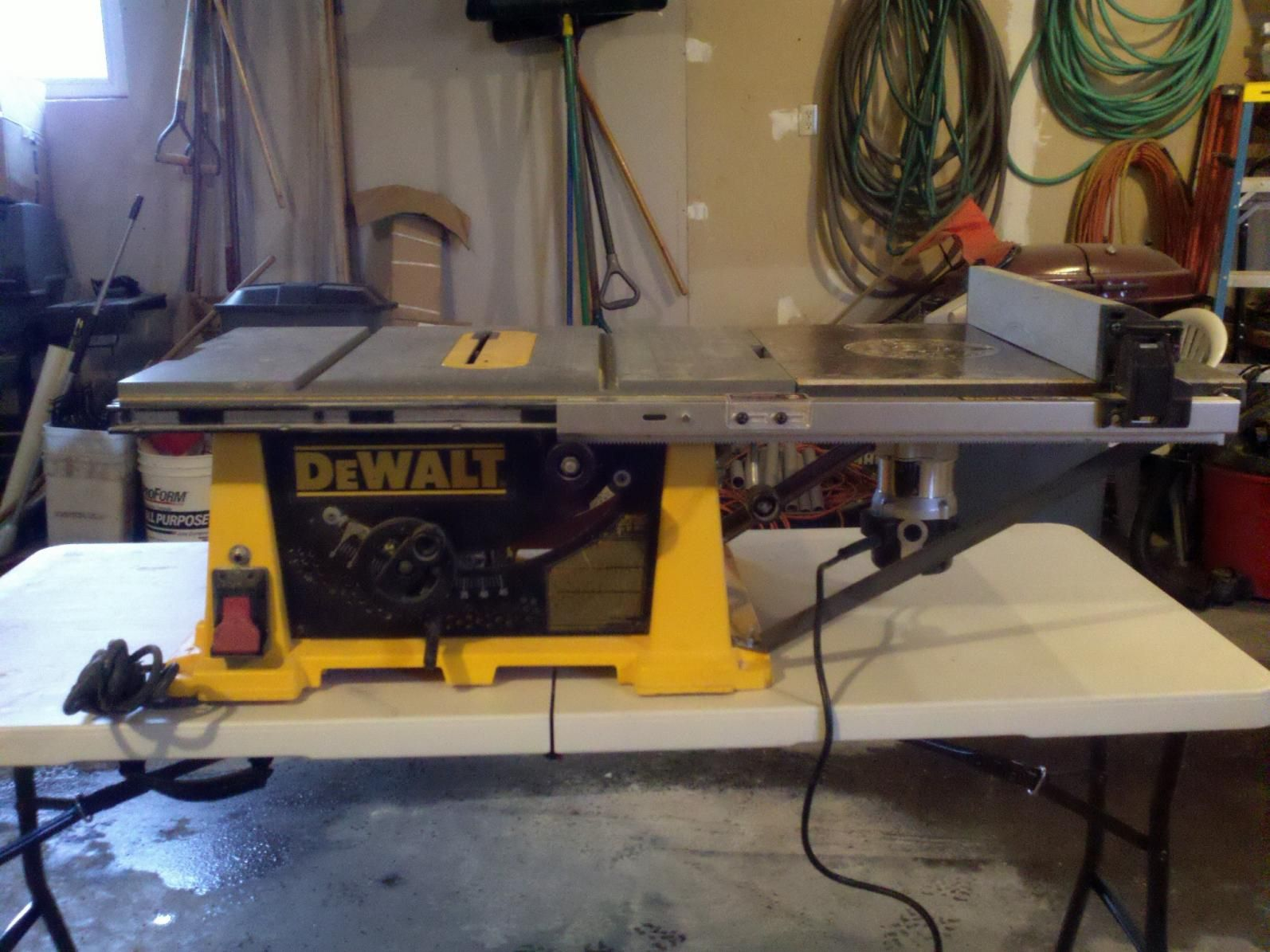 Cool idea to add a router table to existing table saw for small cool idea to add a router table to existing table saw for small spaces greentooth Images