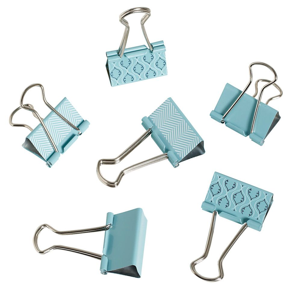 See Jane Work Binder Clips Blue Pack Of 6 Cosas