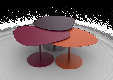 Table Basse 3 Galets 40 2x59x63 Design Luc Jozancy Matiere Grise Disponible Dans 28 Couleurs Mobilier Meta Deco Salon Kaki Matiere Grise Table Basse