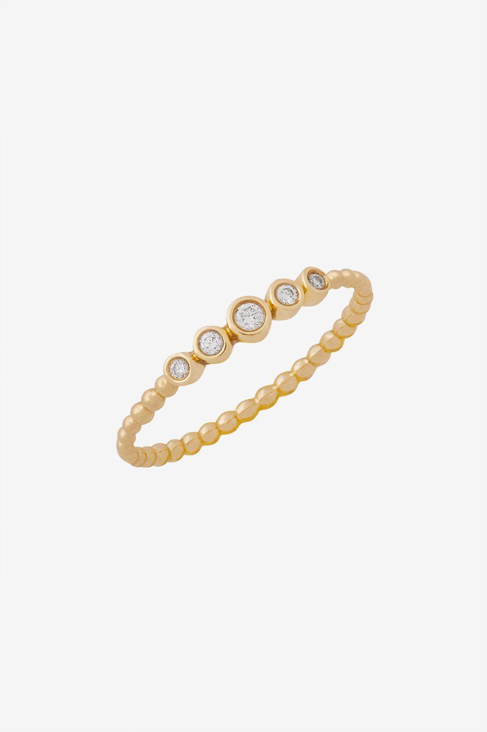 Anine Bing Gold Rope Ring 42JKQv
