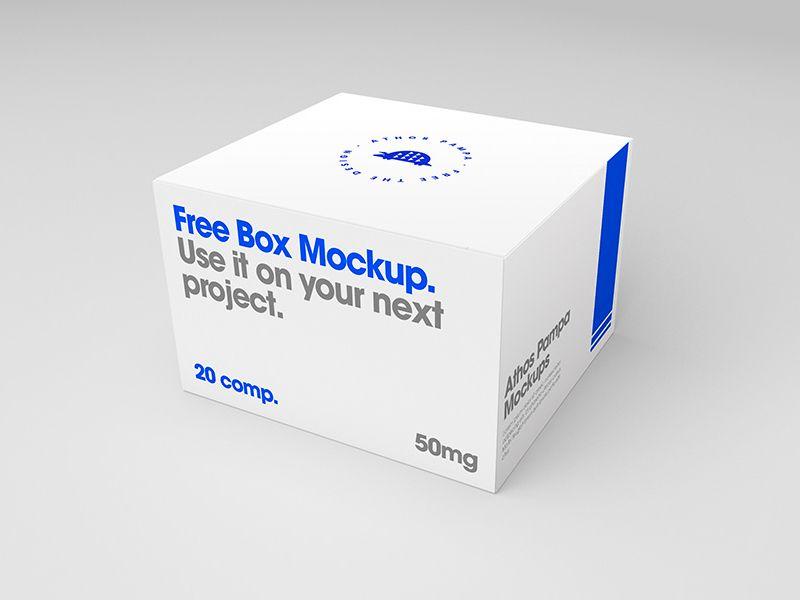 Free Box Mockup Box Mockup Free Boxes Mockup