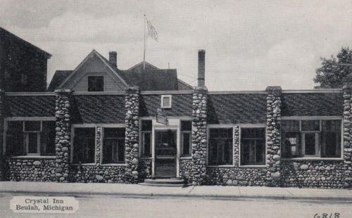 Early Beulah Mi Michigan Crystal Inn Hotel Restaurant 1939 Postcard Ebay