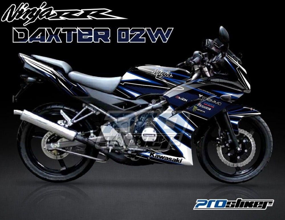 Decal Ninja RR Hitam Motif Daxter 02W Biru Putih