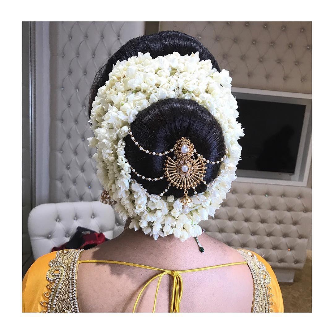 Bridal Hair Bun Bride Bridal Bridalhair Jasmine Flower