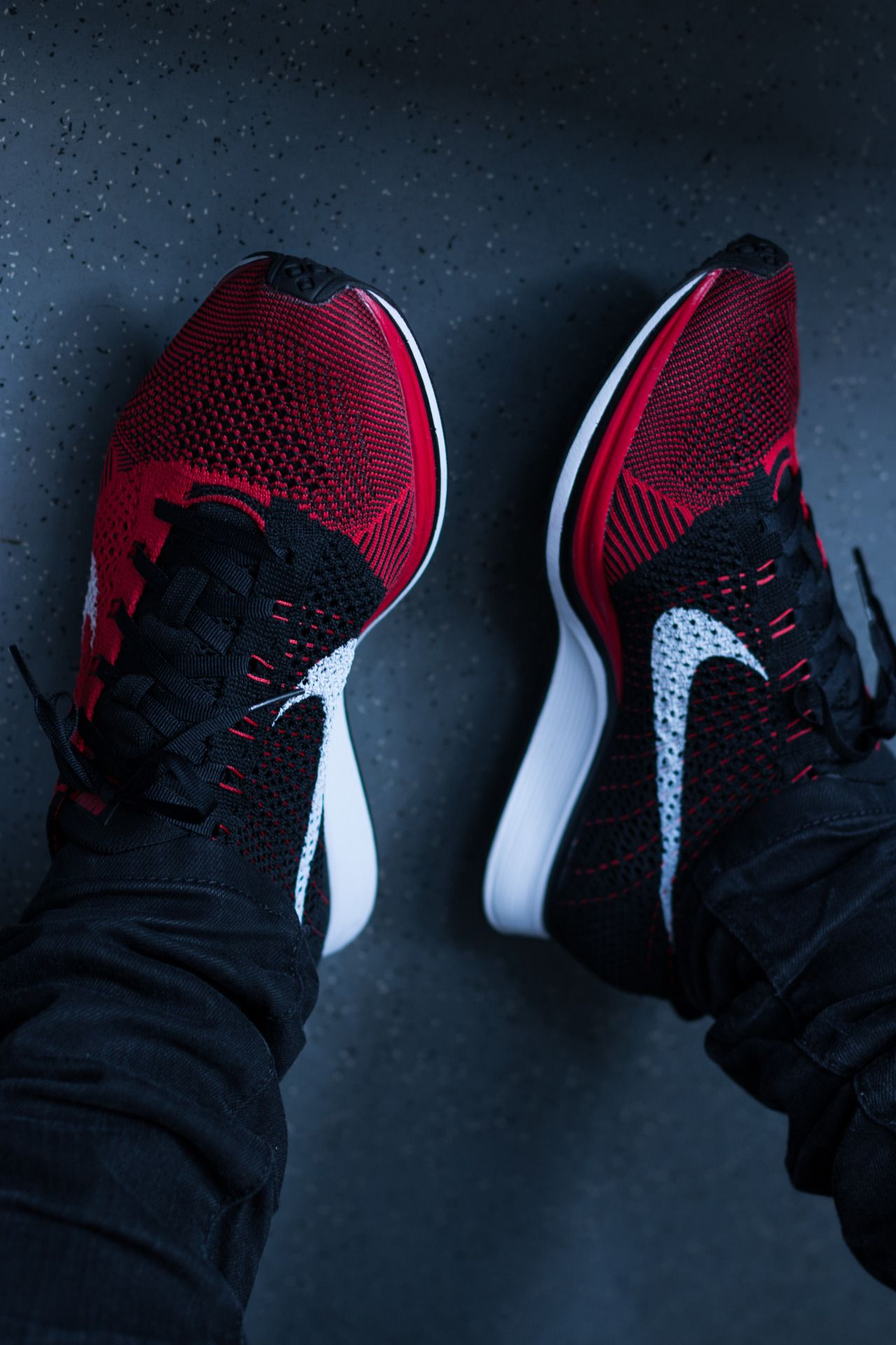 new product 0fa37 f55db Nike Flyknit Trainer+ - Red Black
