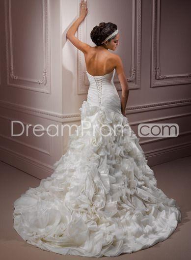 Exquisite A-line Sweetheart Floor-length Chapel Flowers Wedding Dresses