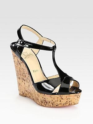 af4539e77ea Christian Louboutin #wedge #sandals #shoes   Shoes, shoes, and more ...