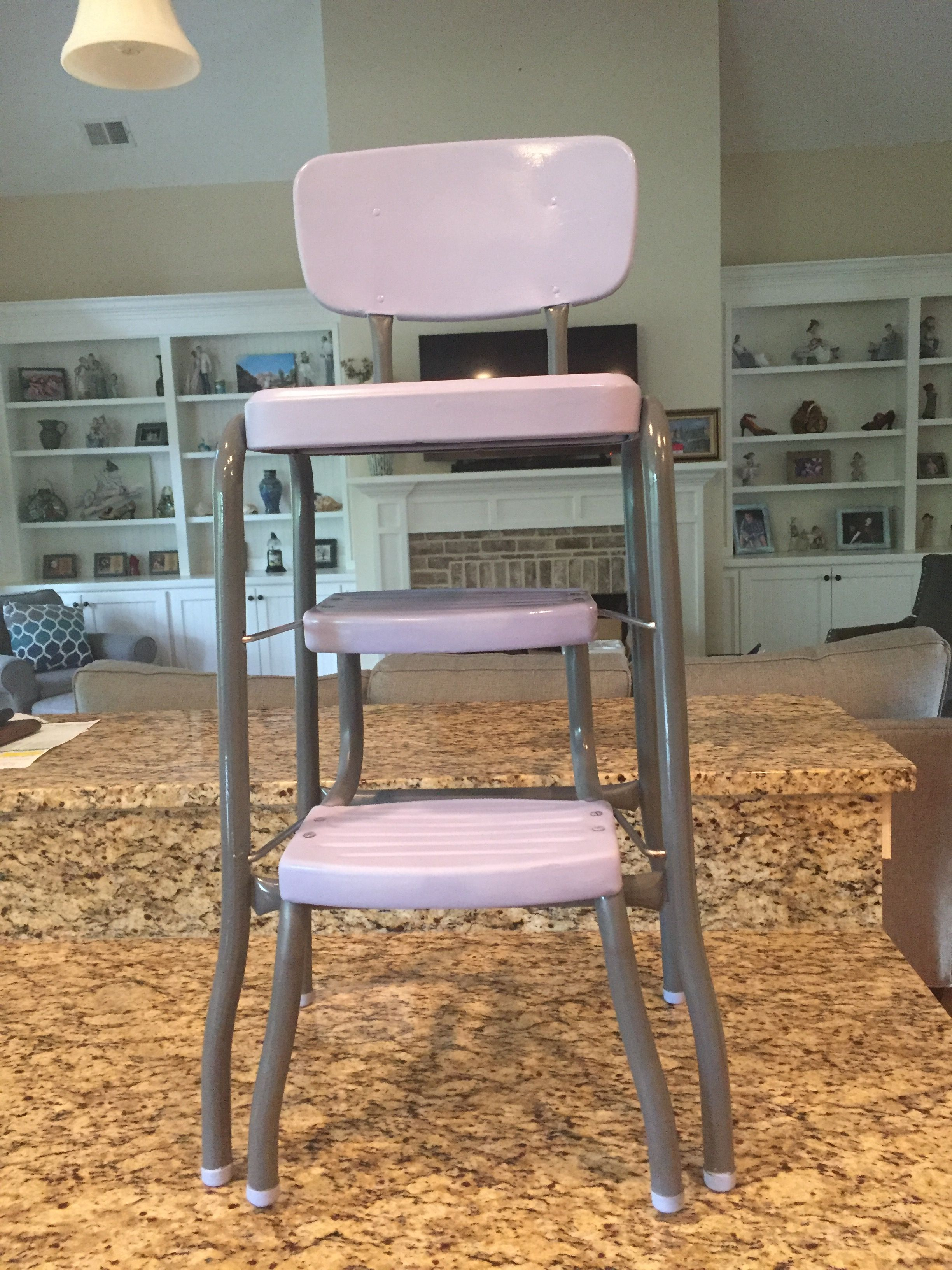 Refurbished old step stool Farmhouse dining chairs