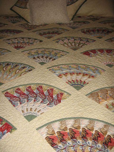 Linda S Stack Whack Fan Quilt Quilts Kaleidoscope Quilt Art Quilts