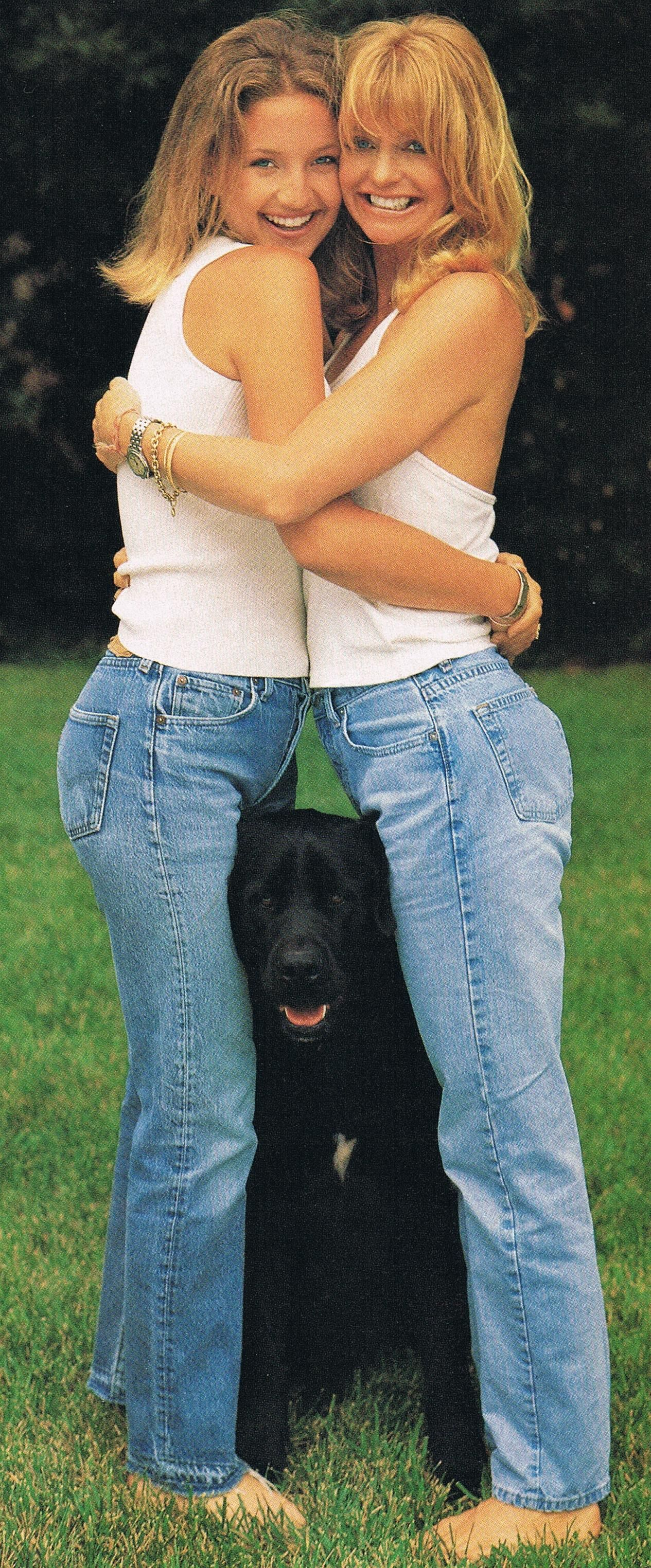 Goldie Hawn with daughter Kate Hudson from InStyle Magazine Aug 1996 ...