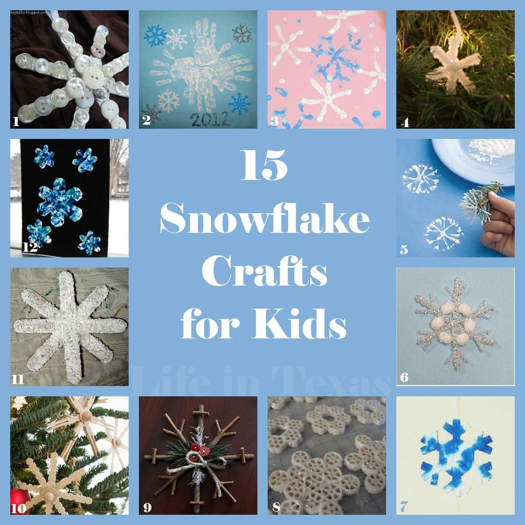 15 Snowflake Crafts For Kids From Life In Texas