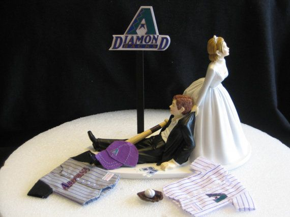 arizona diamondbacks baseball wedding cake topper by finsnhorns 4295