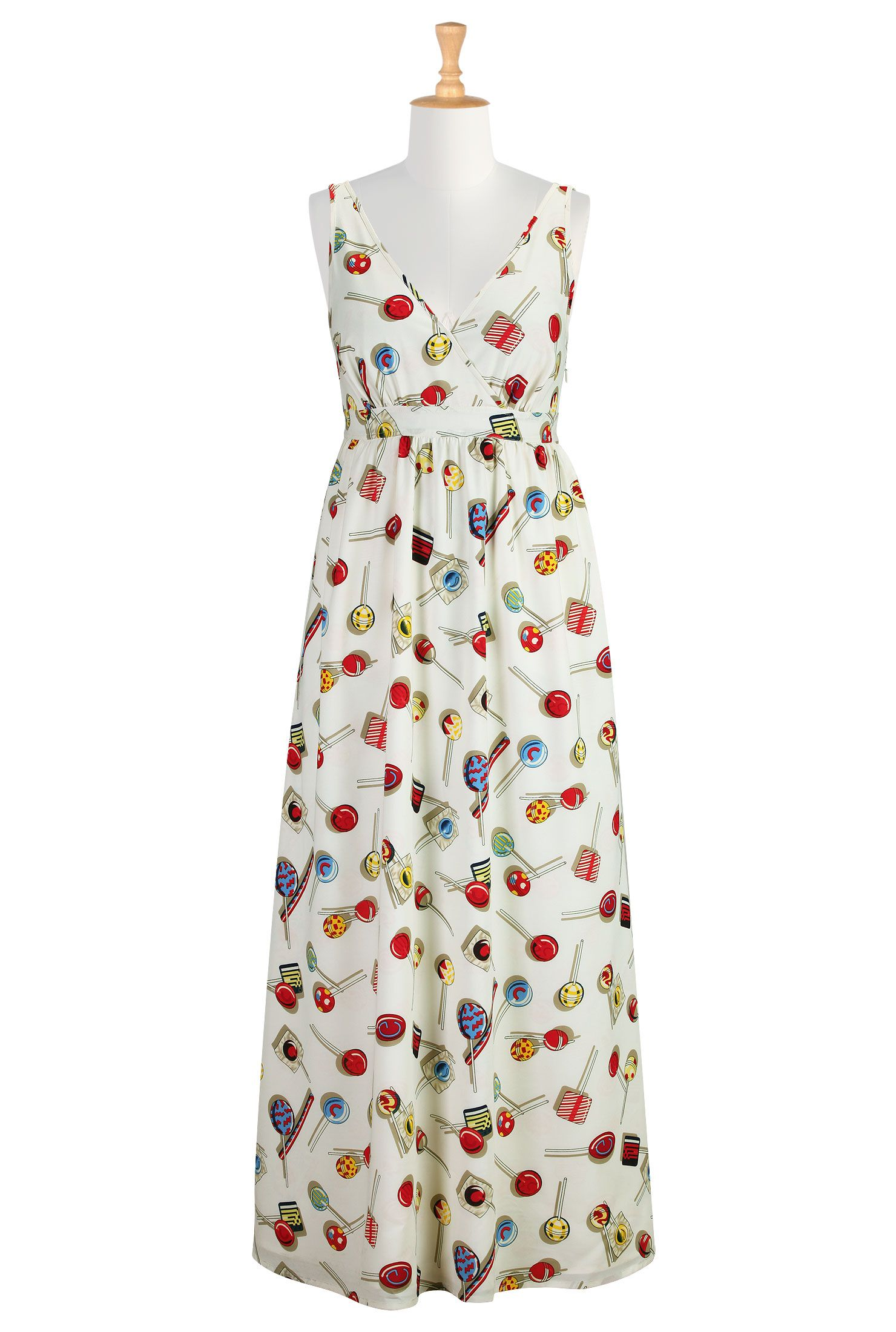 Candy Crush Print Dresses Crepe Print Maxi Dresses Women