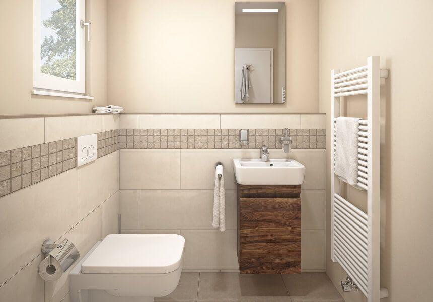 Badezimmer Gaste Wc Ideen Mosaik Beige Obi Badplaner In 2020 Home Storage Spaces Diy Spa