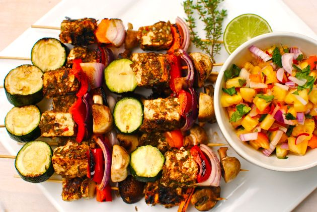 Vegetarian Paneer & Vegetable Kebabs