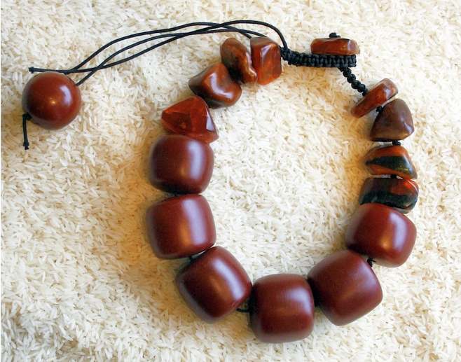"Twiga Gallery Designs |  ""Virtue"" Necklace.  Antique Copal Amber combined with raw amber beads. 