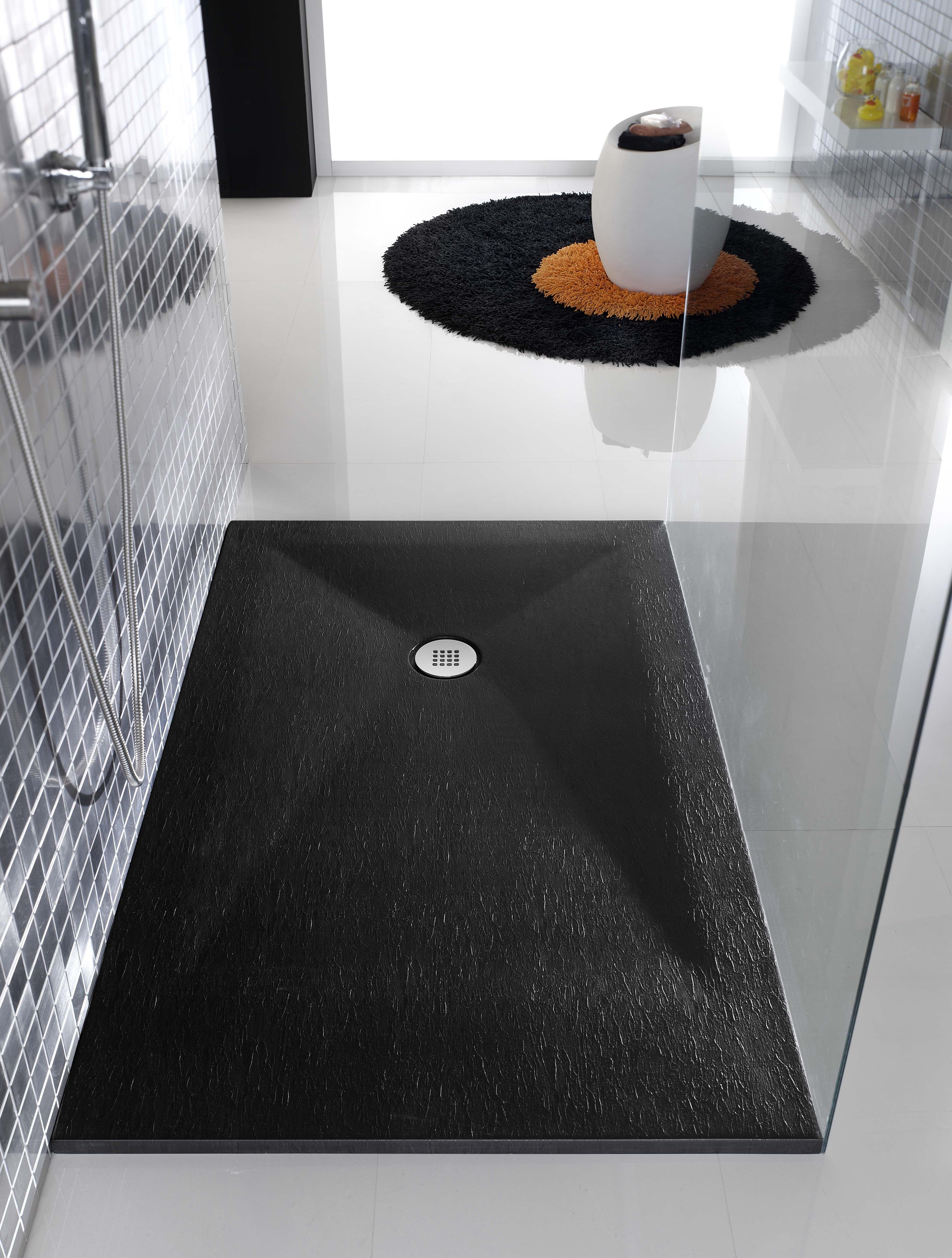 Plato de ducha color pizarra negro de poalgi colorido - Platos ducha pizarra ...