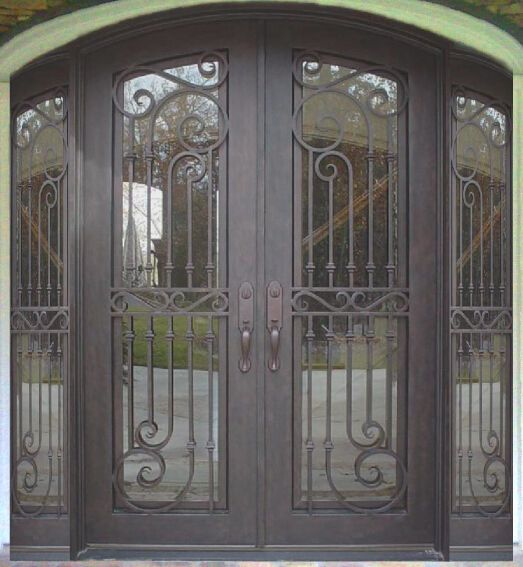 Custom Made 96 X 96 Wrought Iron Doors In 12 Gauge Steel 5 505 Wrought Iron Doors Iron Doors Wrought Iron