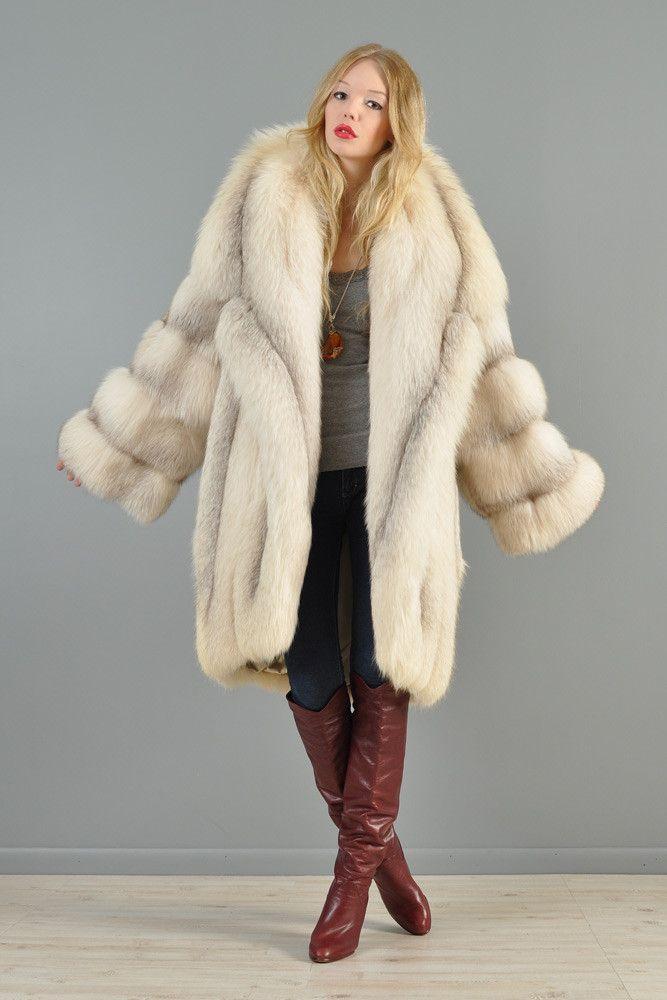 Claude Montana Shadow Fox Fur Coat   BUSTOWN MODERN   Elaine ...