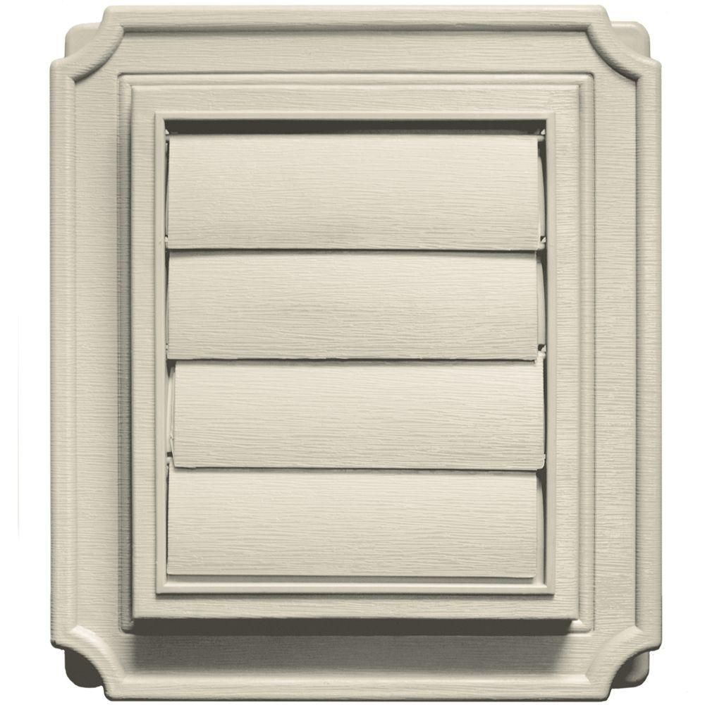Builders Edge Scalloped Exhaust Siding Vent 089Champagne