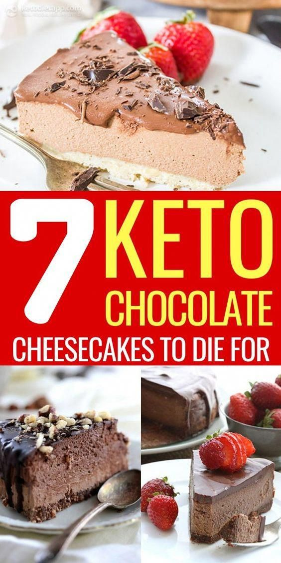 7 Keto Chocolate Cheesecakes To Die For #health #fitness #nutrition #keto #ketogenic #ketodiet #reci...