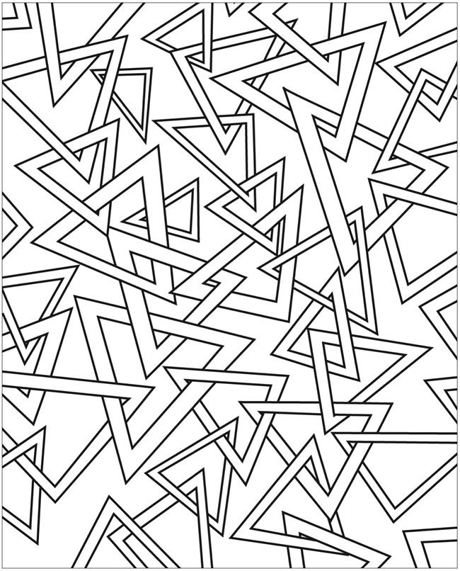 A Dover Publication Sample Abstract coloring pages