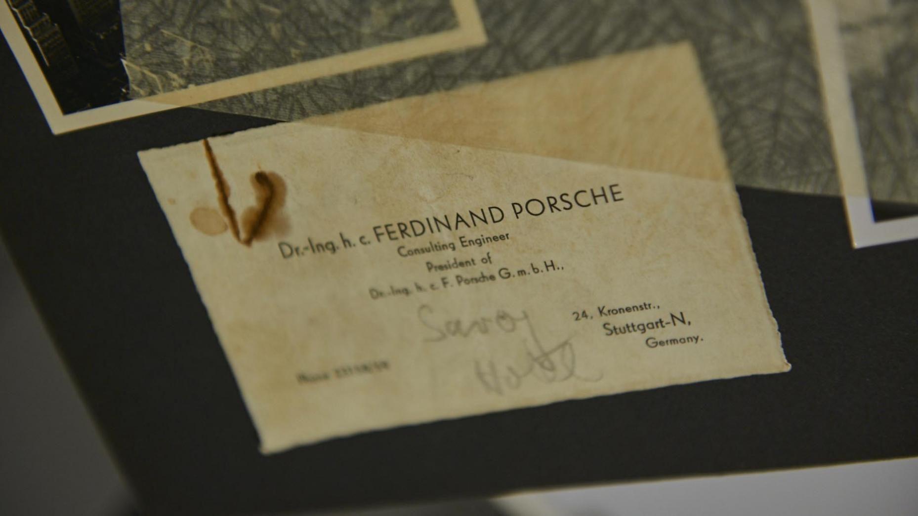 Early Business Card Of Ferdinand Porsche Cards Visit Carte