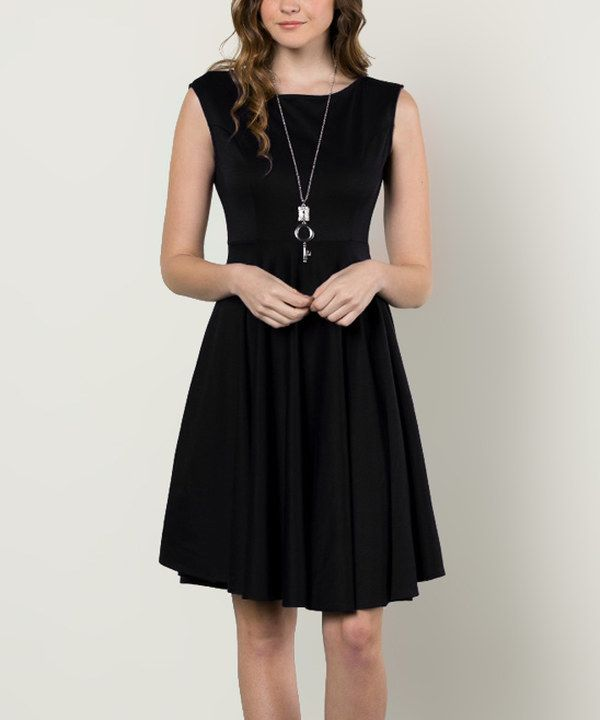 Look At This Aime Clothing Black Fit Flare Dress On Zulily Today
