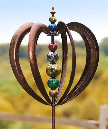 Captivating Garden Art · Another Great Find On #zulily! Cosmic Globe Wind Spinner Kinetic  Garden Stake #zulilyfinds
