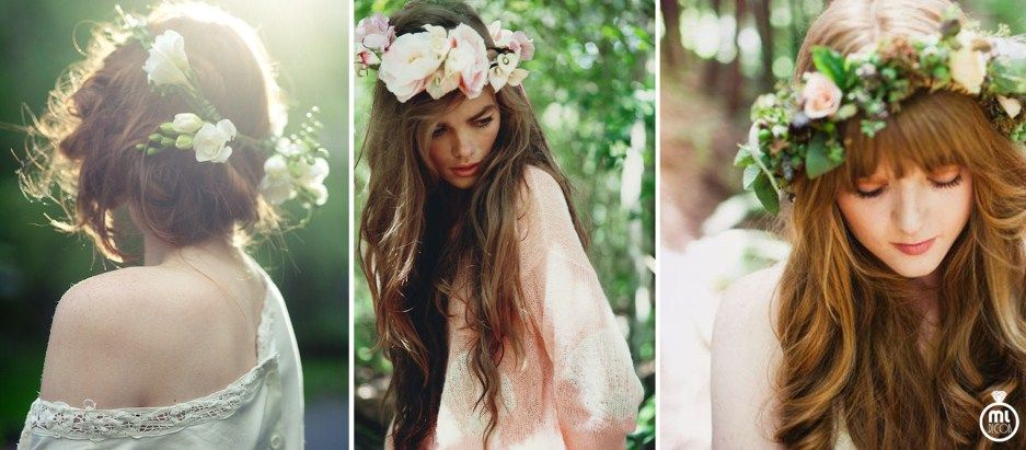 Propozycje Fryzur Slubnych Zywe Kwiaty We Wlosach Crown Fashion Crown Jewelry