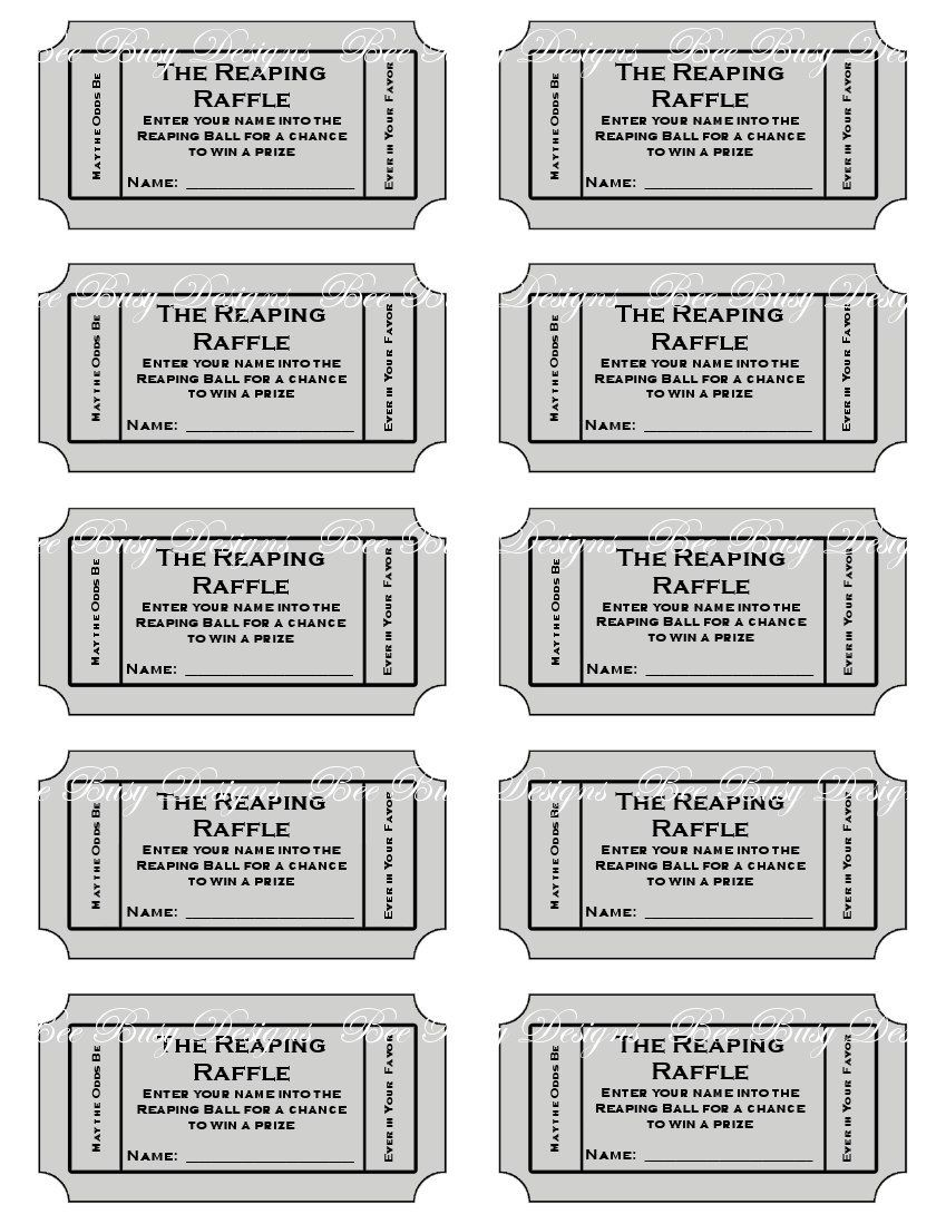 Door Prize Ticket Template from i.pinimg.com