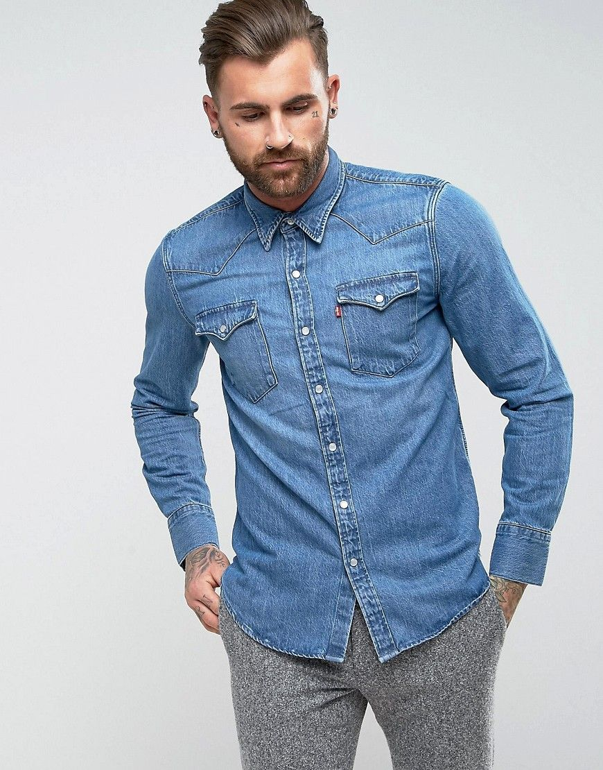 d0ef867cf25 Get this Levis s denim shirt now! Click for more details. Worldwide ...