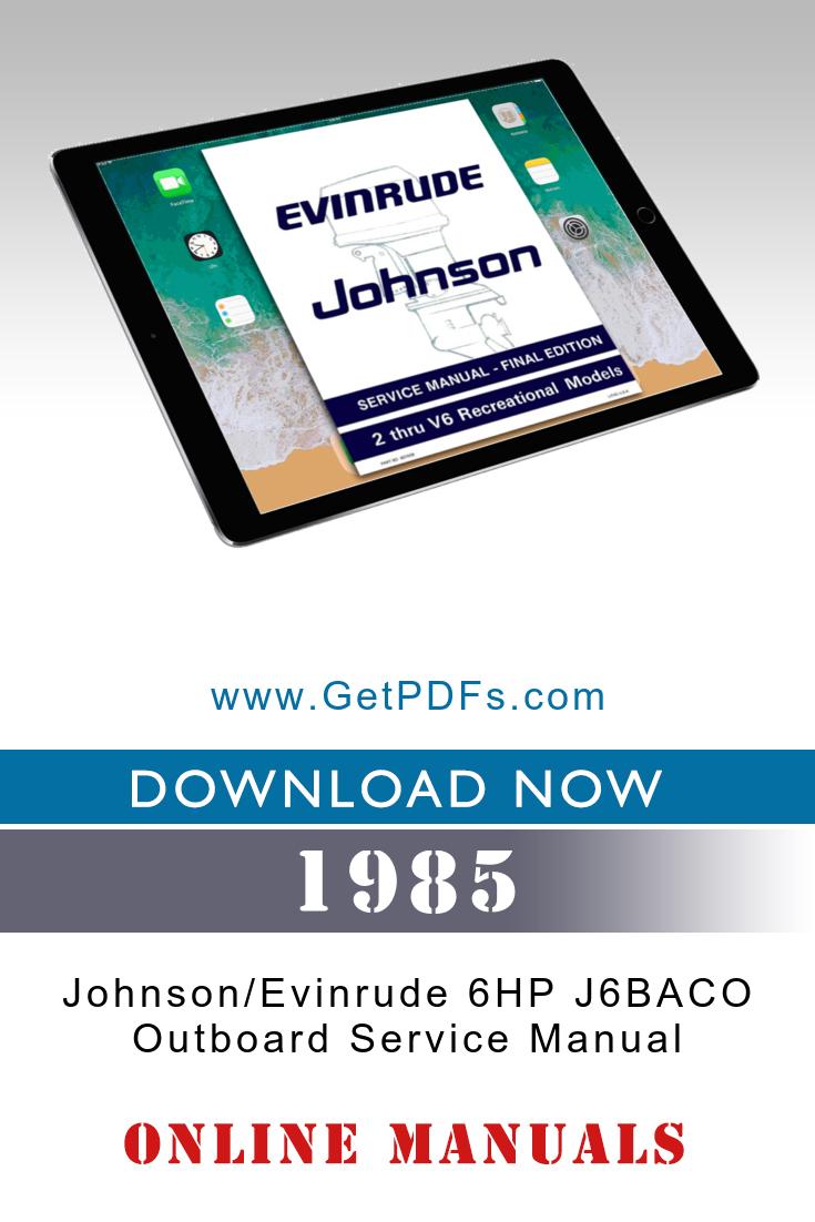 1985 Johnson Outboard Manual