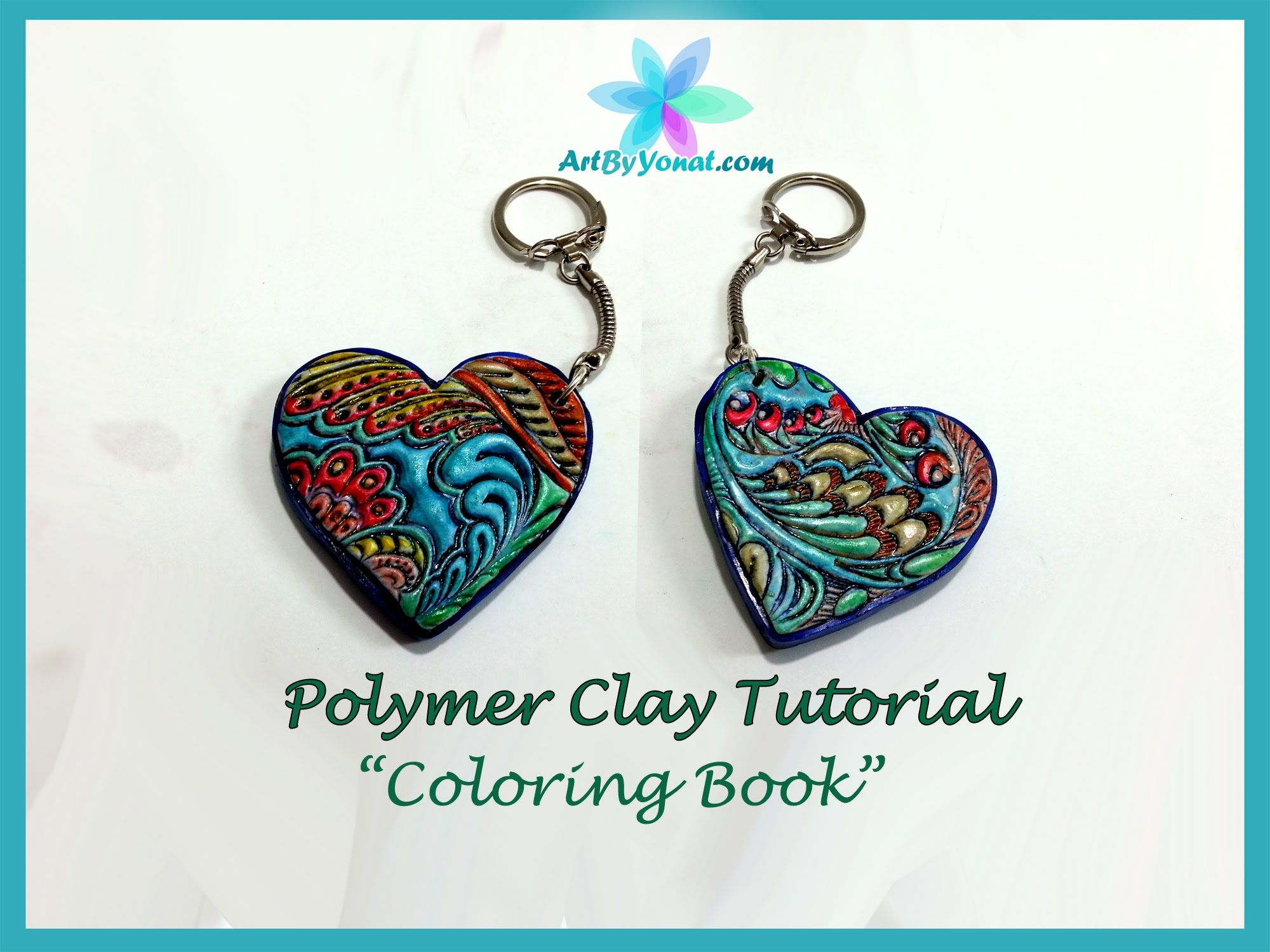 Polymer Clay Tutorial - Coloring Book - Lesson #23 | Poly Clay ...