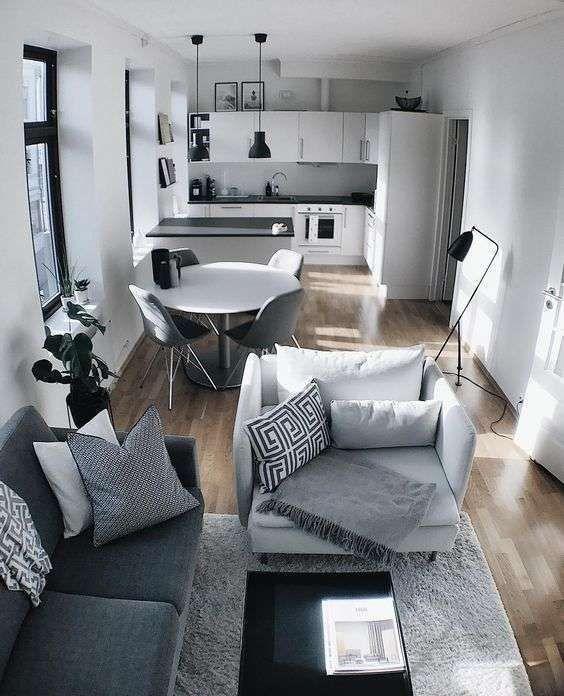 Photo of Idee per arredare un appartamento di 70 mq – Open space con cucina e soggiorno # …