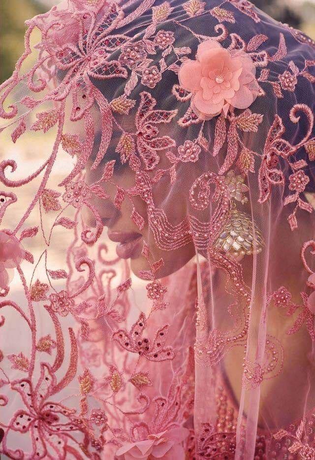 Peach Designer Net Saree With Thread Work And Heavy Moti Work