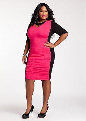 Plus Size Sexy Pink Dress