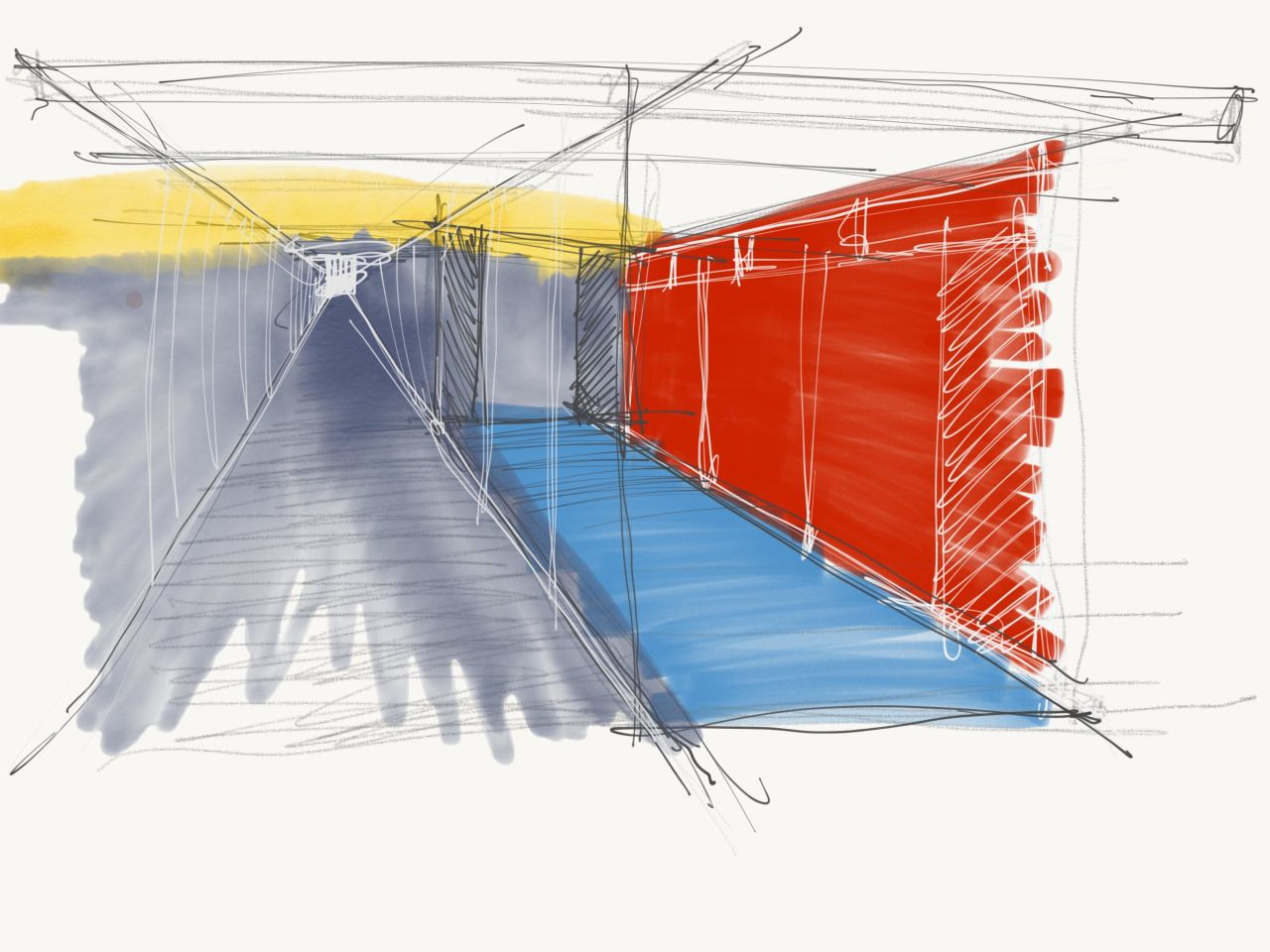 Corridor Doodle Sketch Sketches From Cadence Design Studio  # Muebles Fursys Santo Domingo
