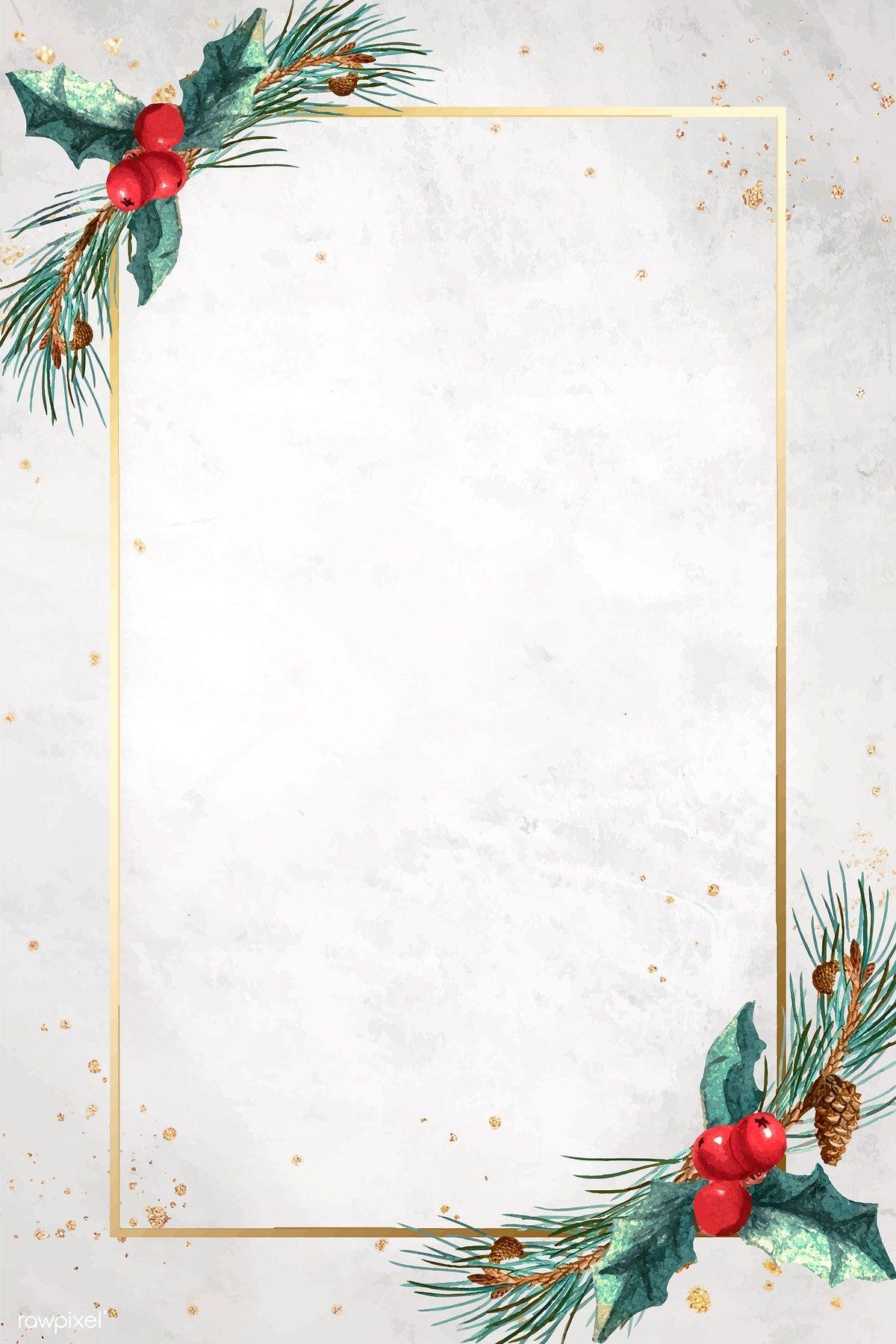 Download premium vector of Golden rectangle Christmas
