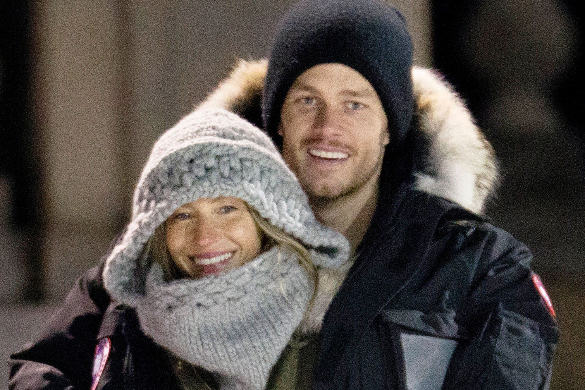 7f9be665d78ab Gisele Bündchen and Tom Brady Cuddle Up at Boston Park Following ...
