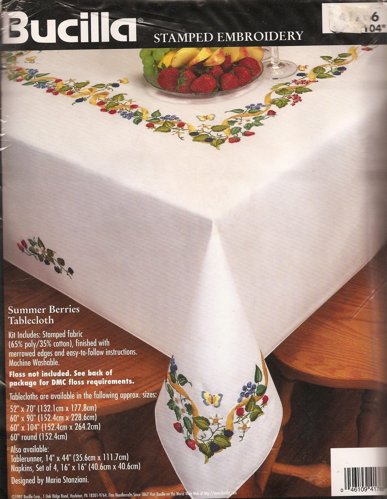 New Bucilla 41766 Stamped Hand Embroidery Kit Summer