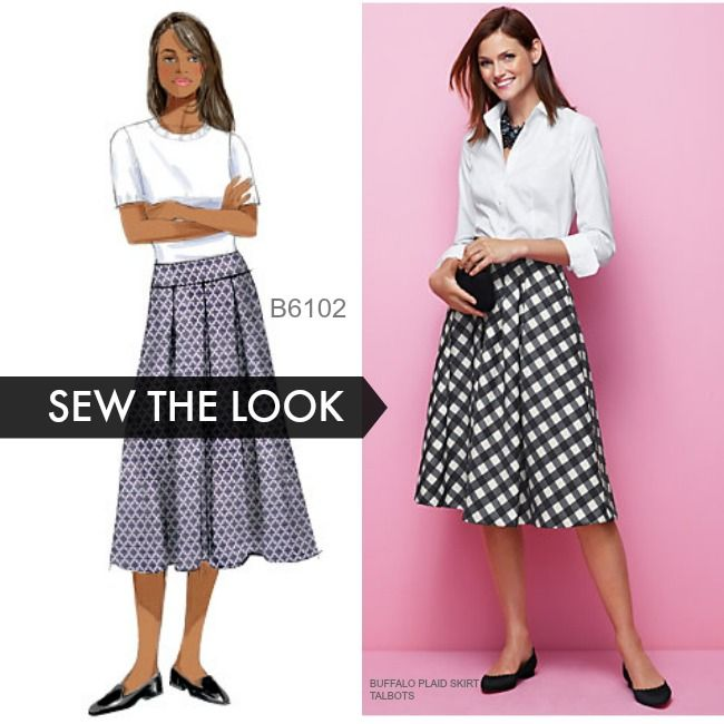 1697d25dd830 Sew the Look: Butterick B6102 pleated skirt pattern is perfect for the  holidays. Maybe a plaid taffeta?