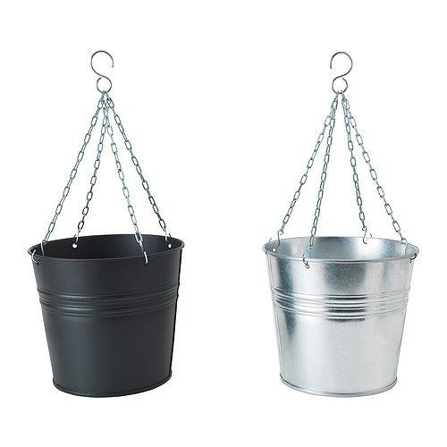 HÖSTÖ Hanging planter IKEA Galvanized; protects the product against corrosion. Weather-resistant and durable. $5