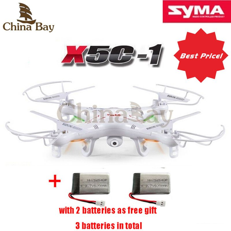 31173915e256 100% Original SYMA X5C RC Helicopter Drone Quadcopter 2.4GHz 4CH 6 Axis 2MP  HD